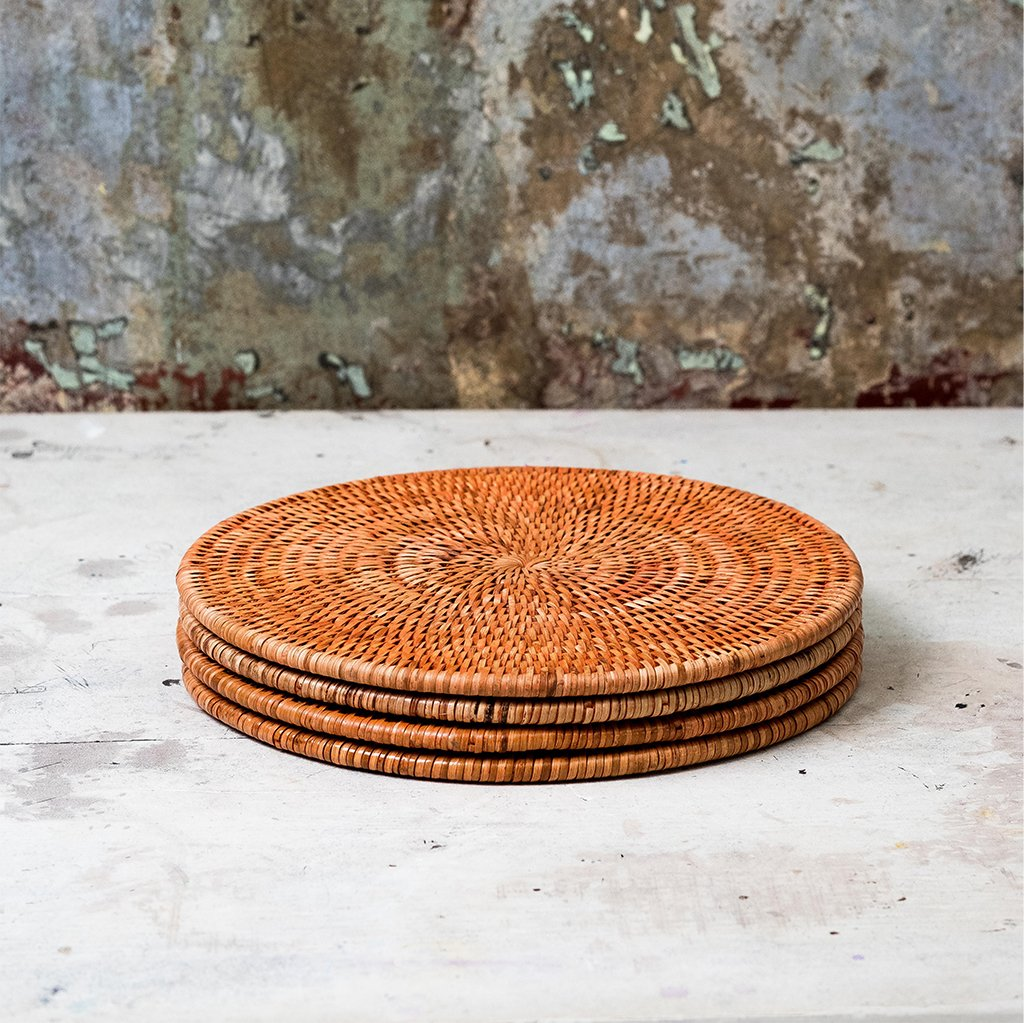 Latha Rattan Placemats - Set of 4