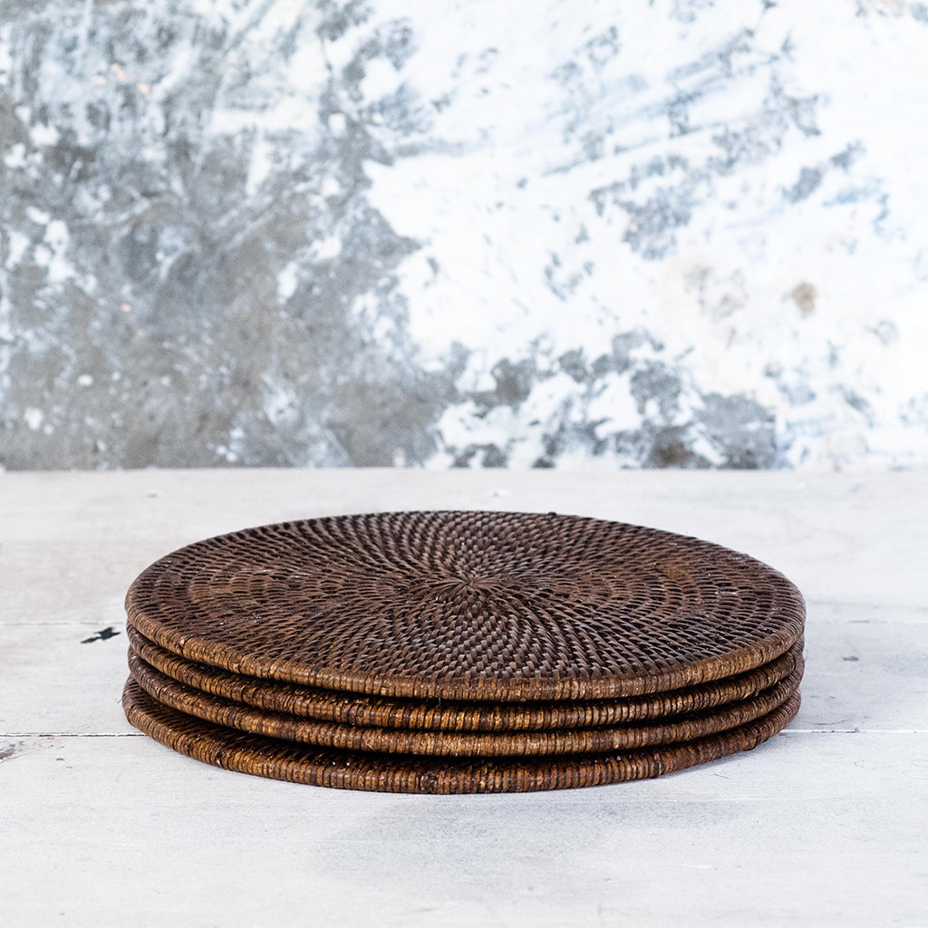 Brown Rattan Placemats