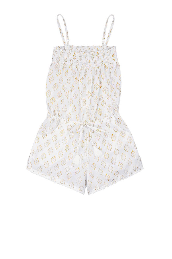 gold playsuit beachwear for girls from mymia