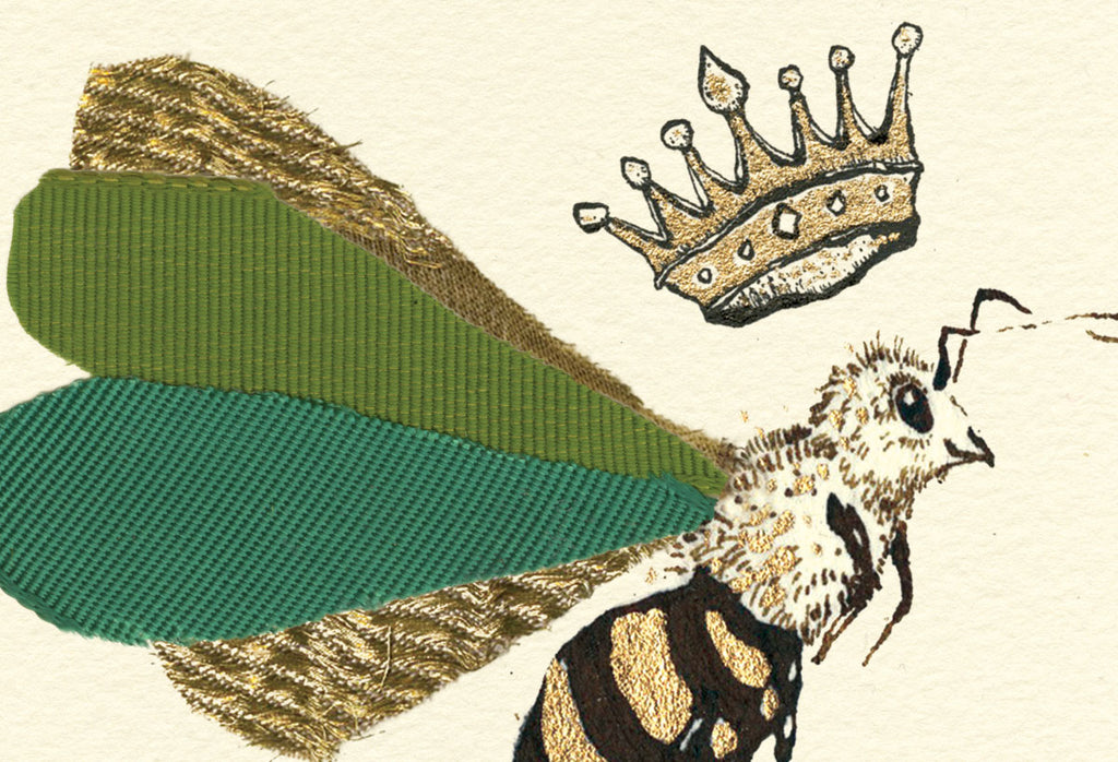 queen bee print from anna wright illustration
