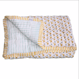 Duck Single Quilt - available in Blue or Yellow