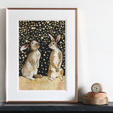 snow bunnies print from anna wright illustration
