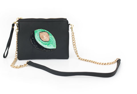 Holbox Black Flamingo Bag