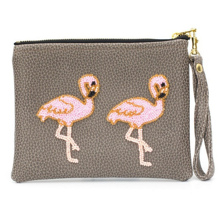Holbox Coffee Flamingo Clutch