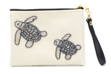 Holbox Cream Turtle Clutch