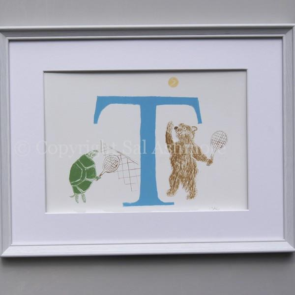 Story Letter Prints - M - Z, in Blue