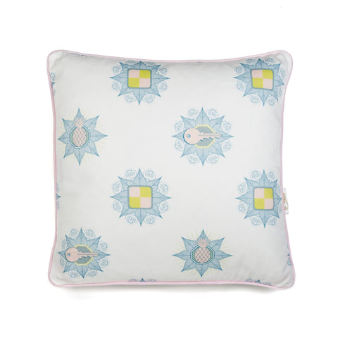 Kattenapple Print Cushion in Blue