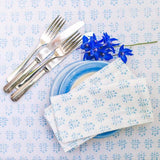 Sprig Napkins - Set of 4 available in blue or green