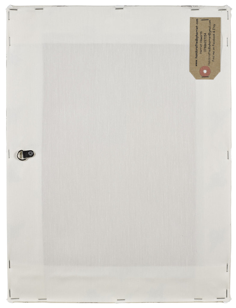 Linen Fabric Noticeboard with Coloured Ribbon