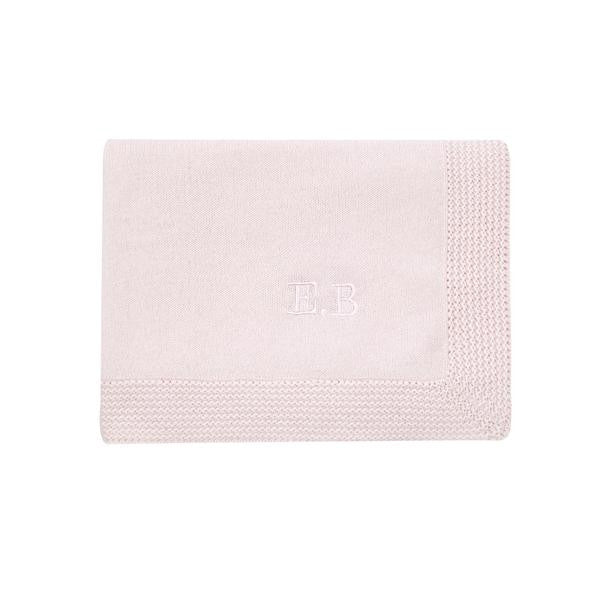 pink personalised cashmere baby blanket from calf and co