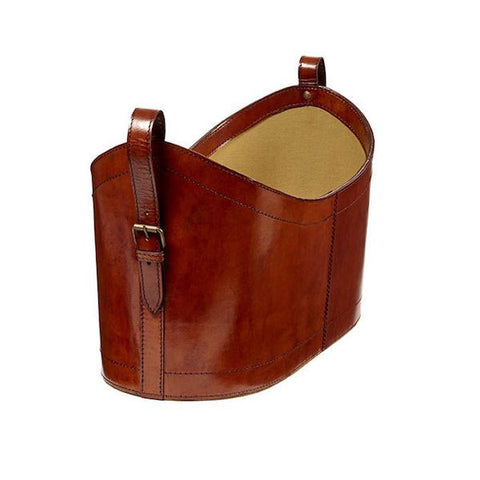 Bedford Tan Cowhide Storage Basket