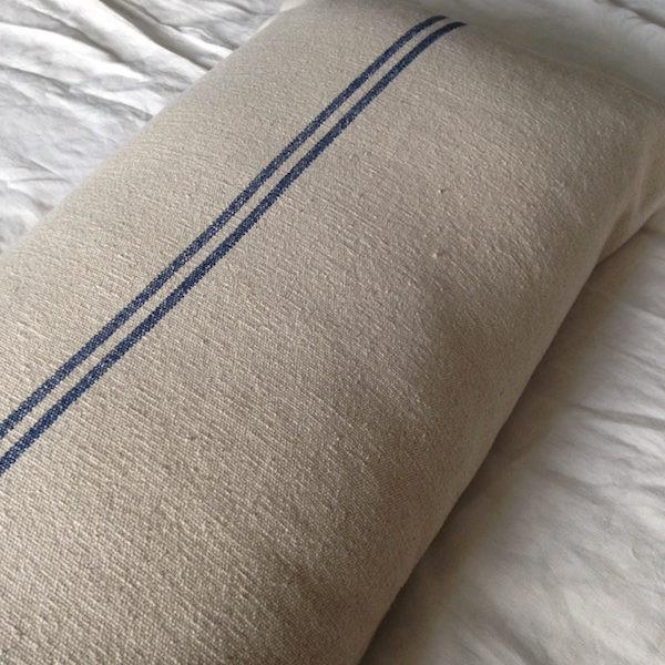 Blue Stripe bench cushion from Maison Brocante