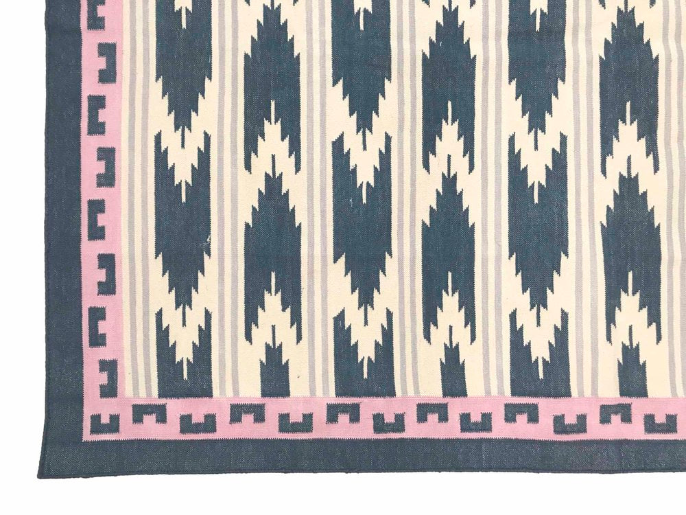 Ikat in Blue Pink and Lilac