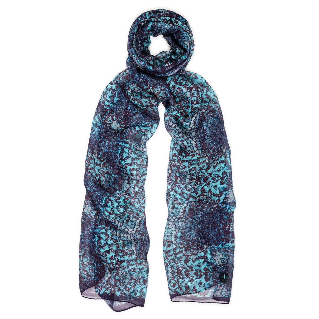 cyan goddess silk scarf from beatrice jenkins