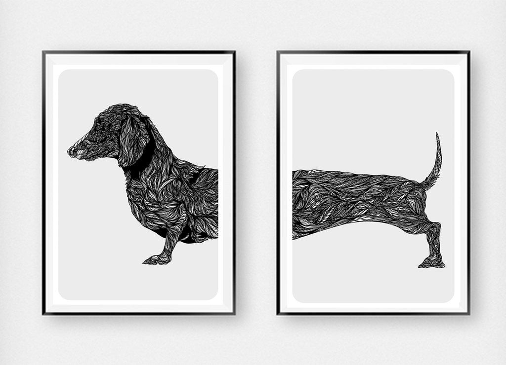 Dachshund Duo Art