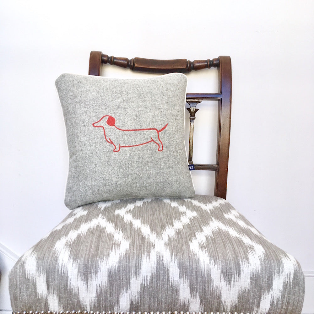 Dotty Dachshund Cushion