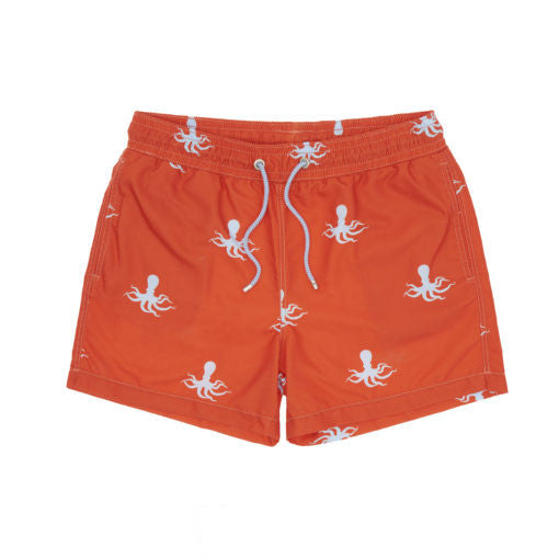 childrens octopus print swimming trunks