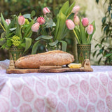 Leaf Tablecloth - available in blue, pink or green