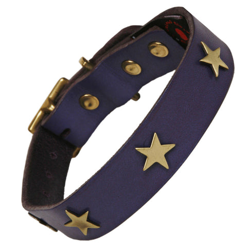 Geo Blue Dog Collar & Lead