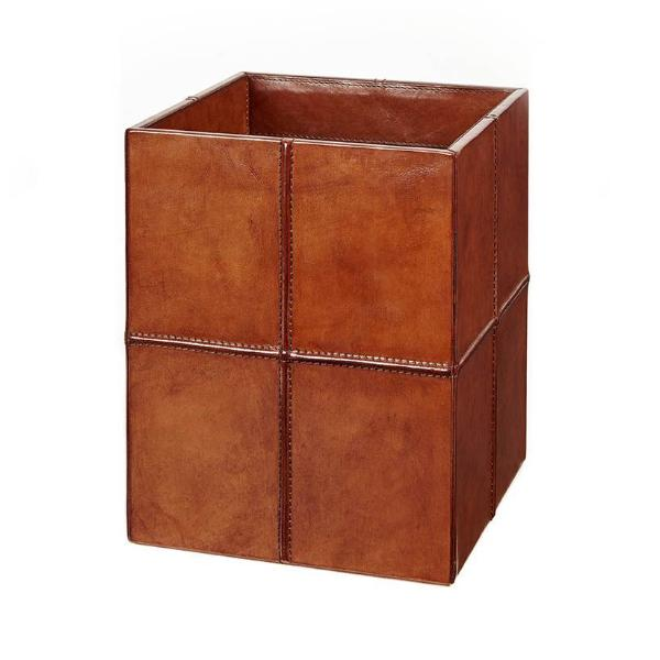 Leather waste paper bin from howat and hutchinson
