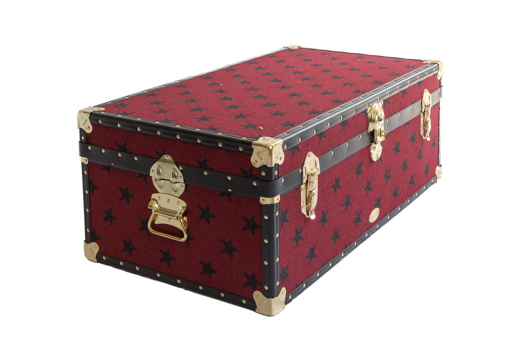 Grey star trunk from the english trunk company
