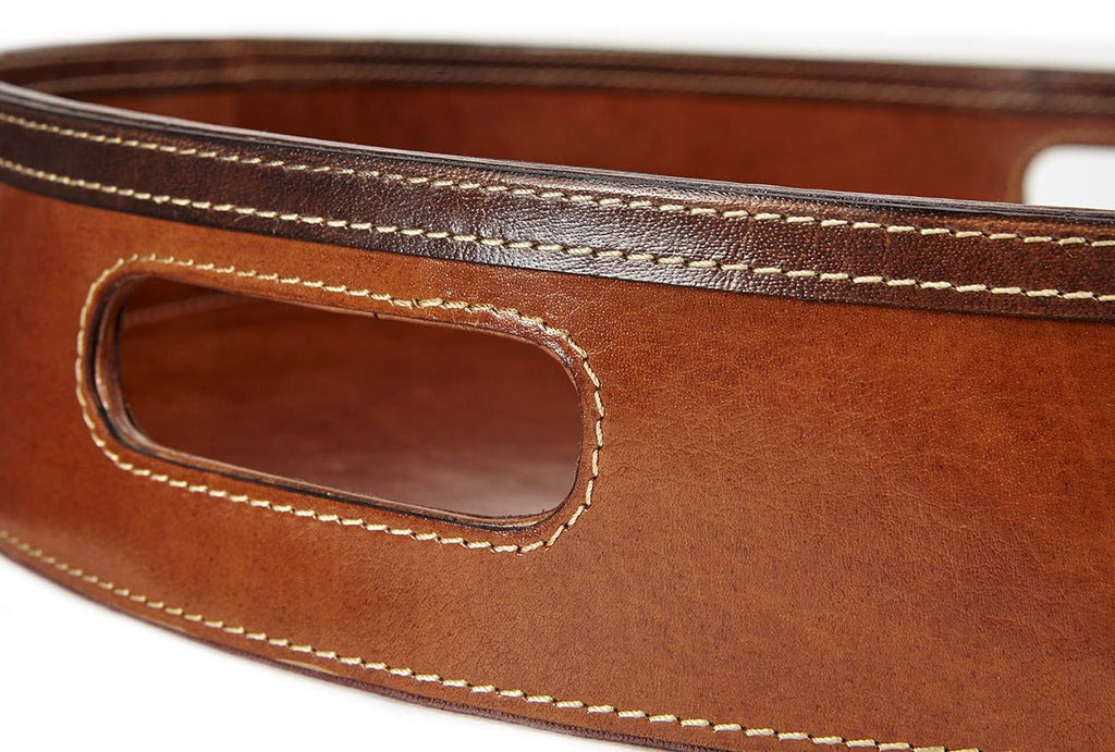 Wilton Leather serving tray