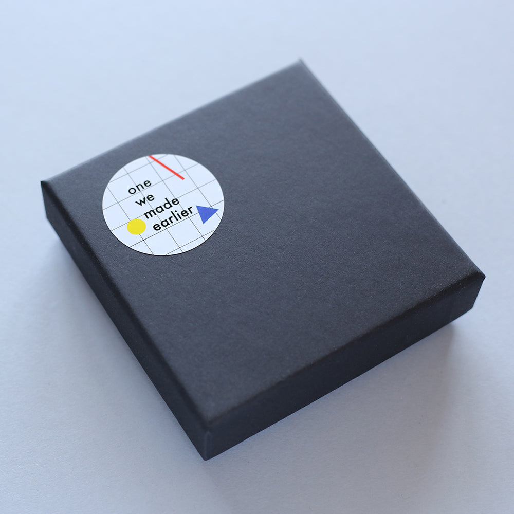 Packaging for Gil brooch by One We Made Earlier