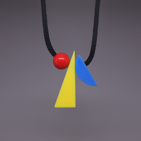 Veld necklace by One We Made Earlier. Bright, bold geometric accessory.
