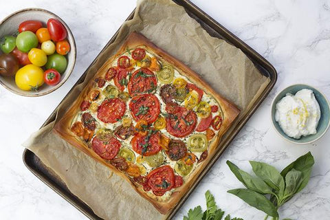 Tomato and Basil Ricotta Tart