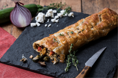 Mediterranean Roasted Vegetable & Feta Strudel