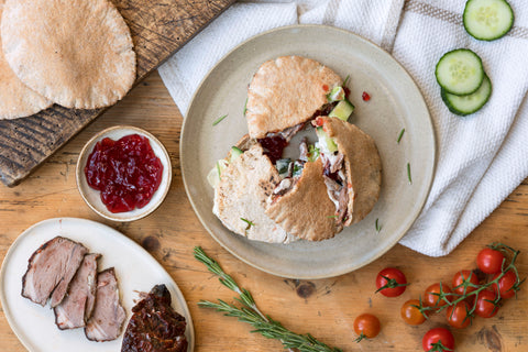 Spring Slow Roast lamb in mini pita