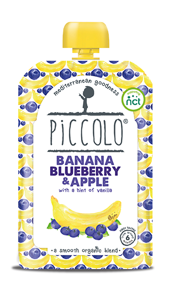 Banana, blueberry and apple - with a hint of vanilla