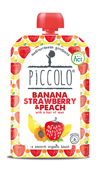 Banana, Strawberry and Peach - with a hint of mint