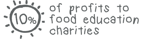 10% of profits to food education charities