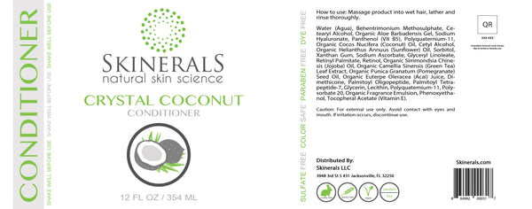Skinerals Crystal Coconut Conditioner
