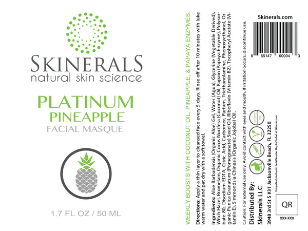 Skinerals Platinum Pineapple Facial Masque