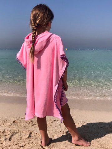 Beach Ponchos with Pompoms