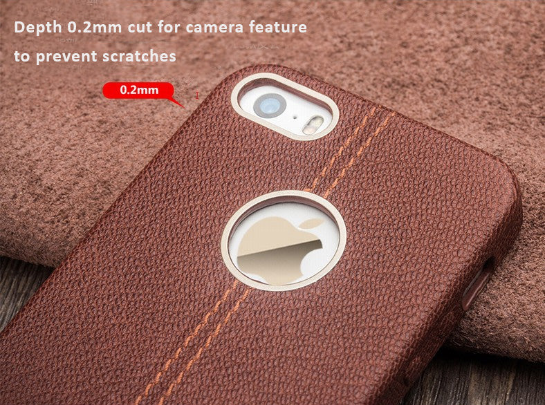 Genuine Cowhide Leather Protective Case/Skin for iPhone 6/6S, iPhone 6 SE - 32 processing procedure to create a masterpiece.