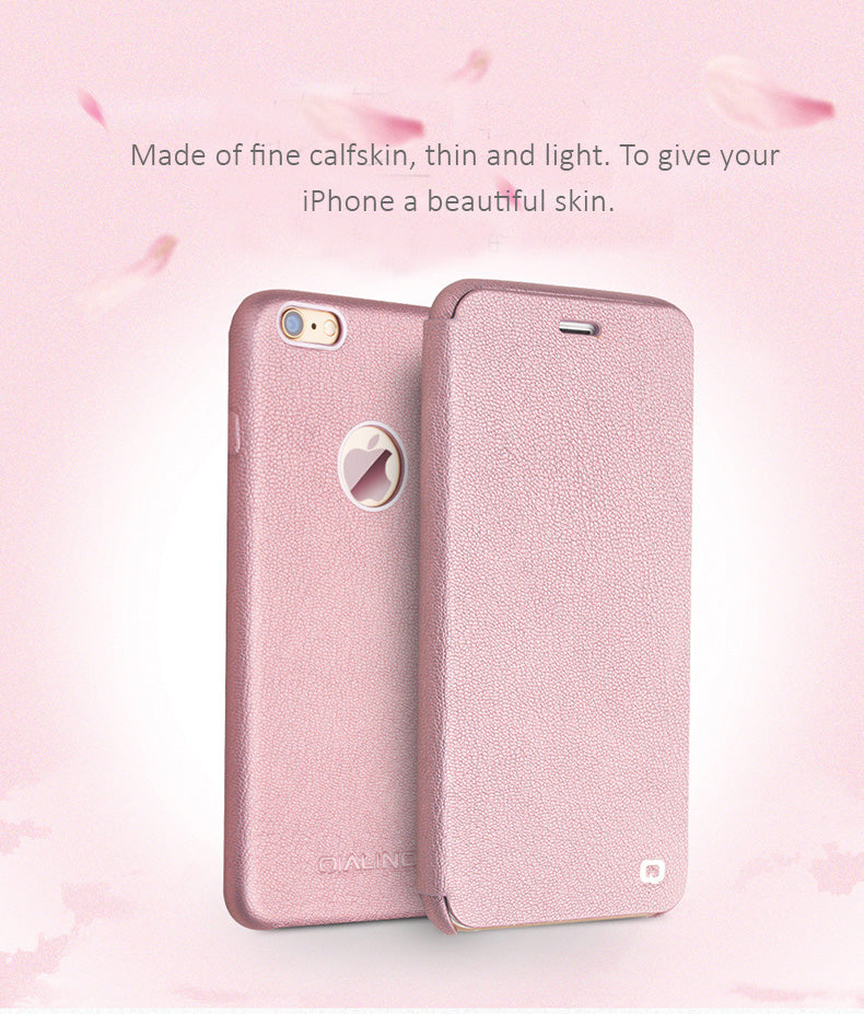 Genuine Calfskin Protective Covers/Holsters for iPhone 6/6S, 6/6S plus  with flip cover - Exclusive design for ladies.