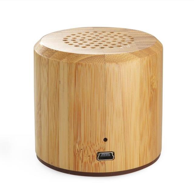 Natural collection - Bamboo Bluetooth Media Player Stereo Speaker, AUX Input. Bass Enhanced