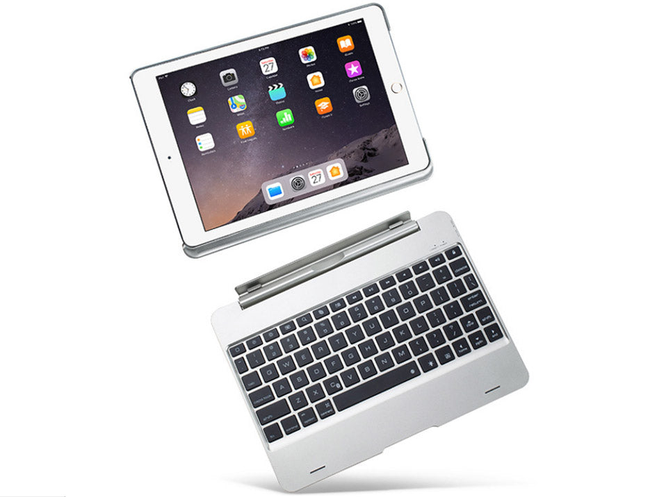 Illuminating Backlit Bluetooth keyboard, Ultra Slim Aluminum Case for iPad Air, 7 Backlights