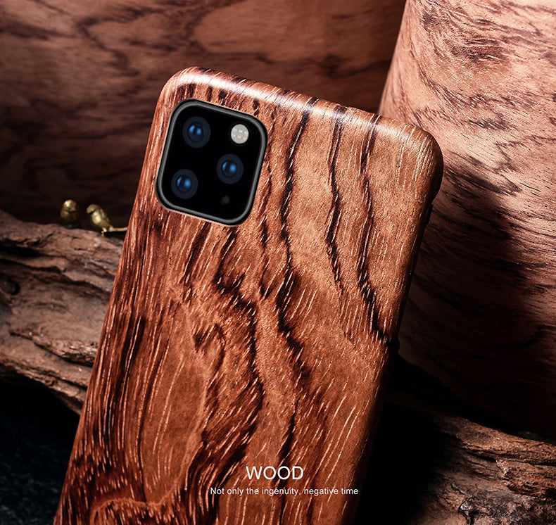 iPhone 11, 11 Pro, 11 Pro Max solid wood phone cases /shells with Kevlar fabric applied in. Give your phone an armor protection.