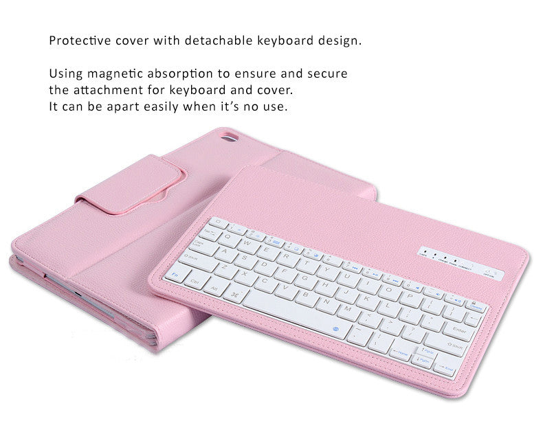Quality PU leather Protective Case with detachable Bluetooth 4.0 keyboard for 2017 new iPad Pro 12.9