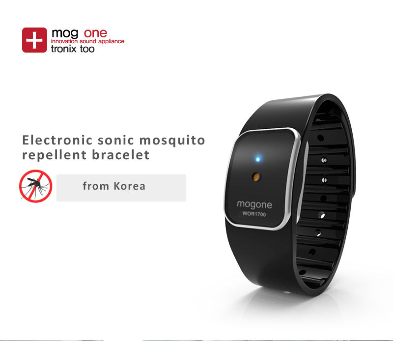Electronic sonic mosquito repellent bracelet, natural sound simulation, 2 segment waves work effectively