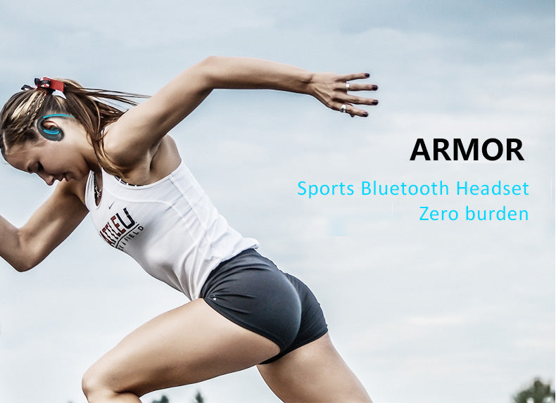 Dacom Armor Sports Bluetooth 4.1 Headset, Headphones with CVC Noise Isolation Feature, IPX 5 Waterproof.