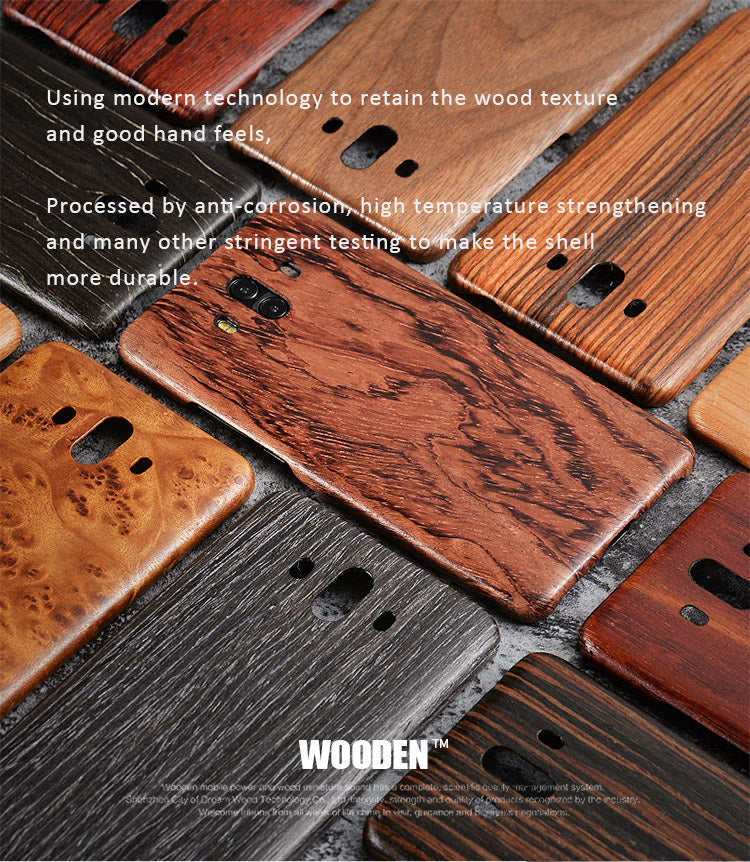 Solid wood phone cases with Kevlar fabric applied for Huawei Mate Pro 10. Give your phone an armor protection.