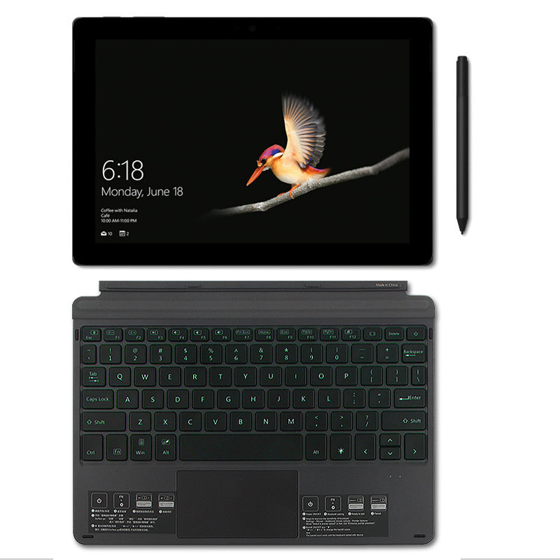 7 Color Backlit Bluetooth Keyboard for Surface Pro Go.  Turn your surface pro into a laptop in a second.