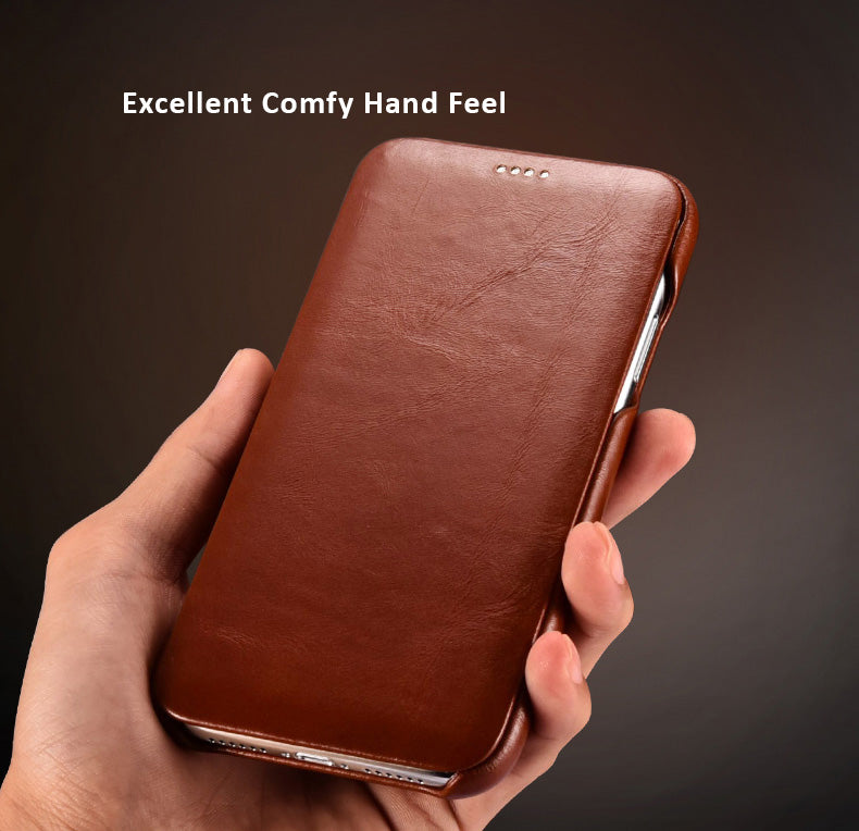 Retro Classic Genuine Genuine Top Selected Cowhide Leather Protective Cases/Skins for iPhone 11, 11 Pro, Pro Max
