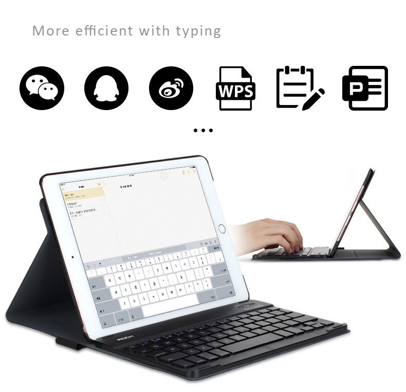 "Detachable Bluetooth Keyboard with Smart Cover for iPad Pro 9.7"" and iPad Pro 12.9"" - Dual Standing Method"