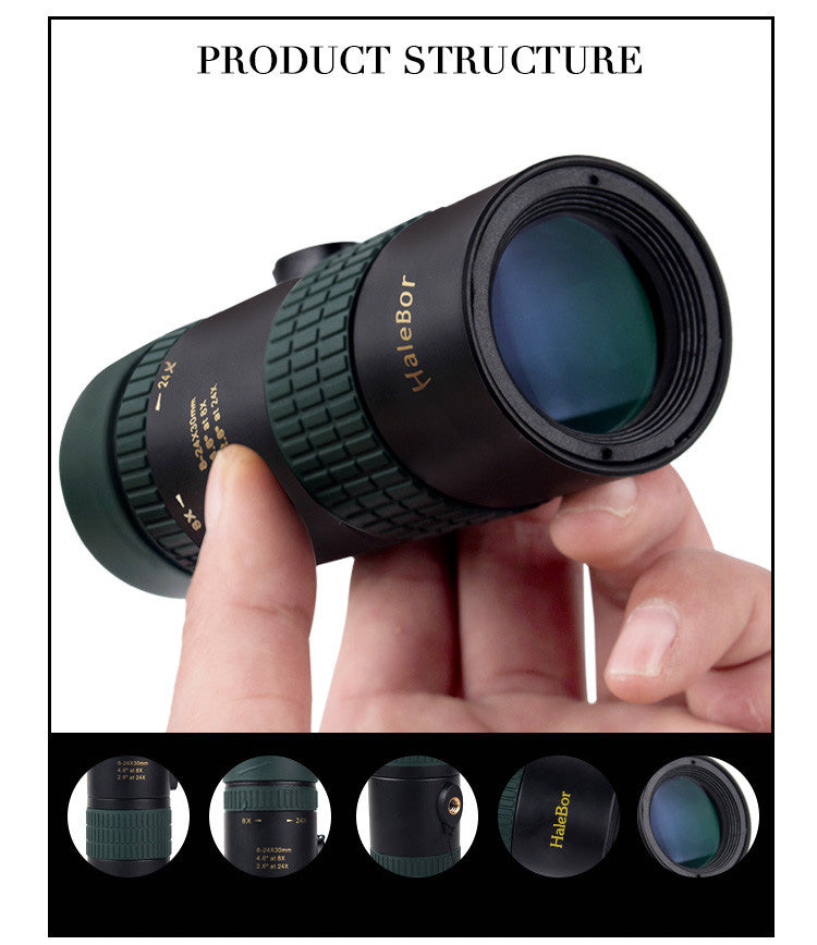 8X-24X Zoom Phone Telephoto Camera Lens Telescope bundled with tripod + Universal Holder for All Smart Phones
